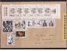 grande enveloppe   journée du timbre  bande carnet   ; 1988