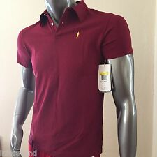 New $95 Men Nike White Label organic polo shirt Prefontaine red max Sz S