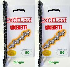 2 x Sägekette passend für Stihl Kettensäge, MC Culloch Ikra 35 cm 3/8 1,3 50