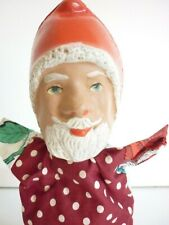 Vintage Father Cristmas Santa Clause hand glove puppet 1940s /50s Barnsbury play