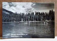 18.35 Lago di S.Vito di Cadore, Monte Antelao [grande, b/n, viaggiata]