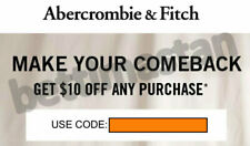 Abercrombie coupon code $10 off 10,01 sale clearance items EXP 12/30