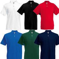 Fruit of the Loom Herren Original Poloshirt Polo Shirt S M L XL XXL 3XL