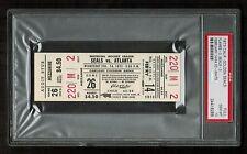 PSA 10 CALIFORNIA GOLDEN SEALS 1973 Unused Hockey Ticket v. Atlanta Flames