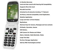 Brand New Doro PhoneEasy 6520 Flip 3G Big Buttons Unlocked SOS Mobile Phone