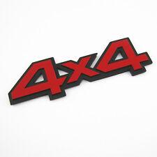"Tailgate 5.5"" Red 4X4 3D Metal Emblem Sticker Badge 4 Wheel Drive SUV Offroad"