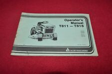 Allis Chalmers T811 T816 Lawn Tractor Operator's Manual YABE16