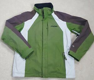 Spyder XT 5000 Men's M Green Brown White Snow Boarding Long Sleeve Ski Jacket