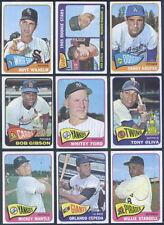 (041) 1965 Topps Complete Baseball SET Mantle Mays Koufax Rose Clemente Carlton
