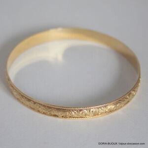 Bracelet Jonc Rond Rigide Or 18k 750  -17.3GRS - Bijoux occasion