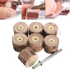 "7pc 80-600 Grit Flap Wheel Sanding & 1/8"" Mandrel For Grinder Rotary Tool"