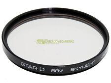 58mm. Filtro Skylight Star D