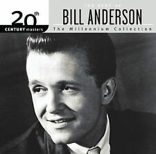 """BILL ANDERSON, CD """"20th CENTURY MASTERS, THE MILLENNIUM COLLECTION"""" NEW SEALED"""