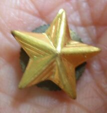 Sevice Star Gold Toned Metal Lapel Pin
