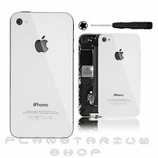 KIT TAPA TRASERA IPHONE 4 CRISTAL Y DESTORNILLADOR transparente blanco