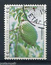 COMORES - 1977, timbre TAXE n° 14, FLEURS, CORROSSOLIER, oblitéré