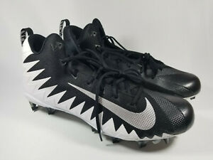 Nike Alpha Menace Pro Mid Football Cleats, 871451-103, Black / White, Men's 17,