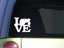 "Tractor Love 6"" STICKER *F142* DECAL farm farming crops diesel corn pull seat 9n"