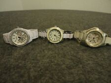 FOSSIL CHRONO/CASIO BABY-G/ANNE KLEIN WOMENS LOT of 3 WATCHES - NEW BATTS/CLEAN