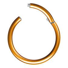 Septum Ring Piercing Clicker Daith Twist Knoten gold silber 1,2mm dezent einfach