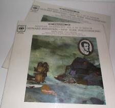 SBRG 72065/6 Mahler Symphony No.3 New York Philharmonic Leonard Bernstein 2LP