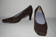 ANN TAYLOR LOFT Womens Chocolate BROWN Suede Leather PUMPS HEELS SHOES 9. 5