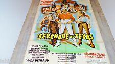bourvil SERENADE AU TEXAS  ! luis mariano  affiche cinema 1958
