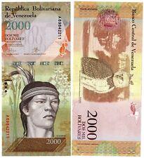 VENEZUELA Billet 2000 BOLIVARES 2016 ( 2017 ) HIBOU NOUVEAU NEW UNC NEUF