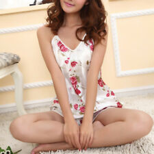 Women New Set Cami Sleepwear Pajamas Floral Girls Pyjamas Shorts Tops Nightwear