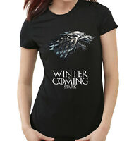 CAMISETA JUEGO DE TRONOS GAME OF THRONES MUJER WINTER IS COMING MAILLOT FEMME