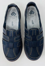 Clarks Cloudsteppers Sillian Stork Slip On Shoes Navy Blue Womens Size 6