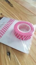 "Queen & Co Washi Trendy Tape! ""Pink Solid Diagonal Stripe"" 10 yards each roll!"