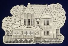 "Heritage Lace HOUSE (2)13"" x 20""  Ivory Accents/Placemats and great for Crafters"
