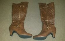 FOREVER Brown Quilted Buckle Boots size 10