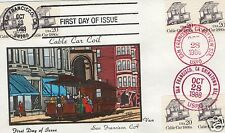 VAN NATTA SAN FRANCISCO CABLE CAR COIL HAND PAINTED HP FIRST DAY COVER FDC