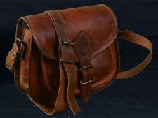 Women Vintage Looking Brown Leather Messenger Cross Body Bag Handmade Purse