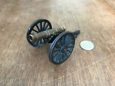 Vintage Toy Cannon, Cast Iron and Brass