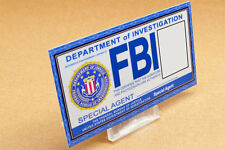 Supernatural prop costume cosplay - BLANK FBI ID Card (custom made-your details)