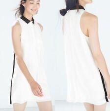 Zara Patternless Collar Casual Dresses for Women
