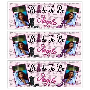 HEN DO PARTY PERSONALISED BRIDE TO BE NOVELTY RUDE ADD A PHOTO BANNERS DECORATE