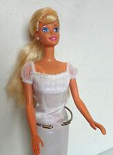 Barbie {1990s} Blonde- Pearls, Empire Waist Gown, Ballerina Toes VERY NICE!