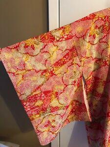 Vintage Silk Shibori Haori Kimono Floral Jacket