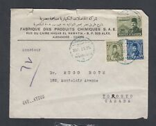 Egypt 1948 Drug Company Airmail Cover Alexandria To Toronto Canada