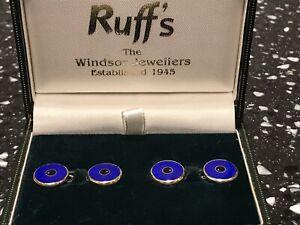 Men's Gold 'Iris' Cufflinks By Ruff's