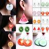 Women Large Fruit Strawberry Watermelon Drop Dangle Hook Earrings Jewelry Gift