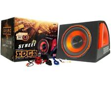 "Edge EDB12A 12"" Active Car Subwoofer Built in AMP Inc Wiring Kit"