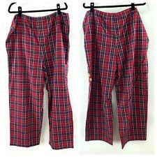 Disneyland Disney Resort Grumpy Dwarf Red Flannel Plaid Pajama Lounge PJ Pants