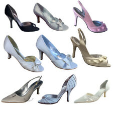 Unbranded Satin Patternless Peep Toe Heels for Women
