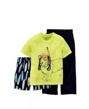 Carter's boy's 12 month 3 piece sleep pajama set snorkel dog shirt shorts pants
