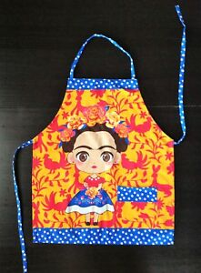 Frida Kahlo Apron Mexican Apron Cooking Apron with a Pocket Chef Apron Unisex